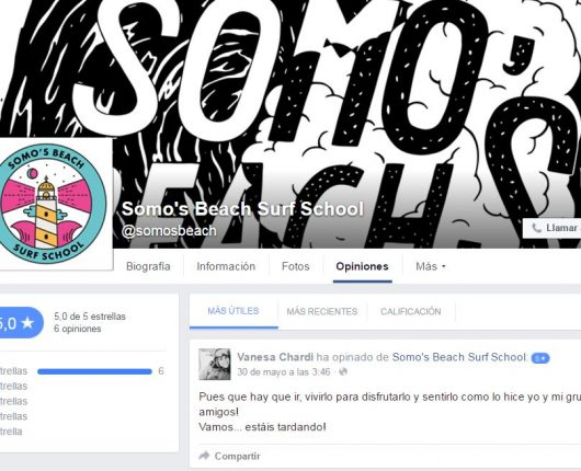 Facebook de Somo´s Beach Club